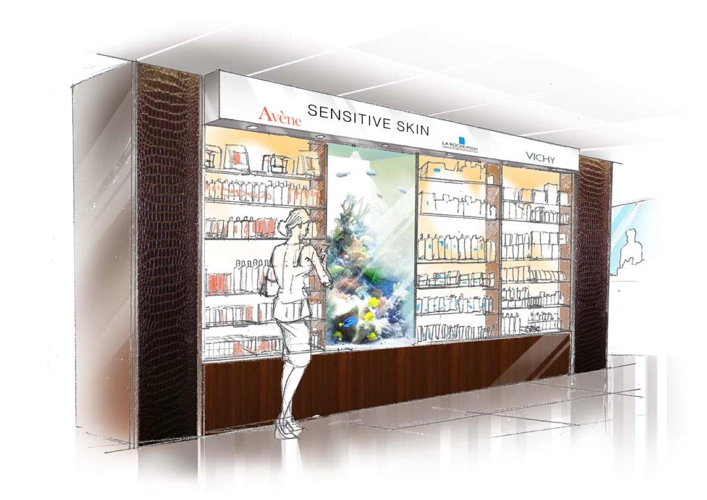 Interior design visualise illustration- shelve redesign for Petter Pharmacy