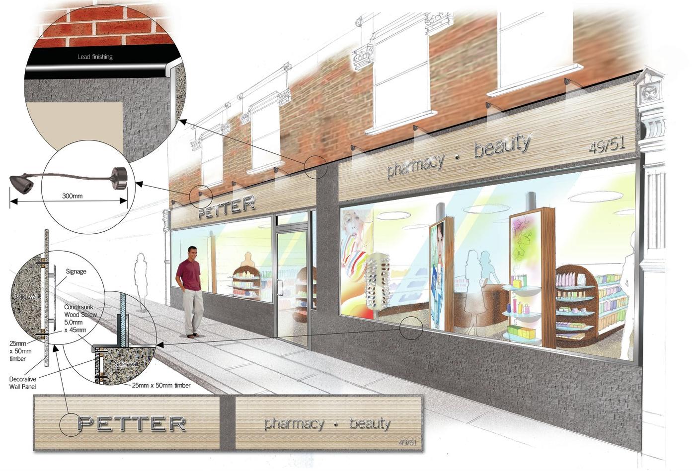 Signage Design for Petter Pharmacy